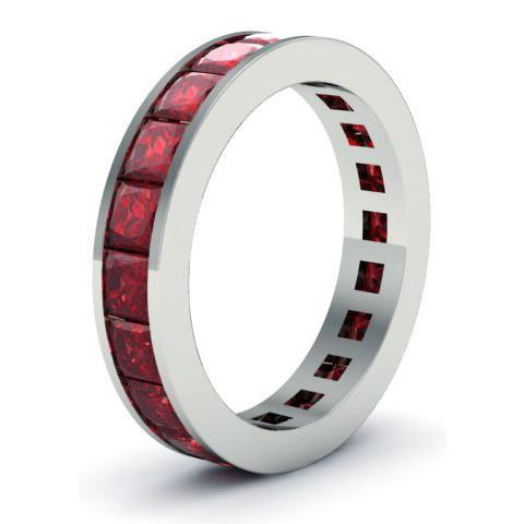 Garnet Gemstone Eternity Band Gemstone Eternity Rings deBebians