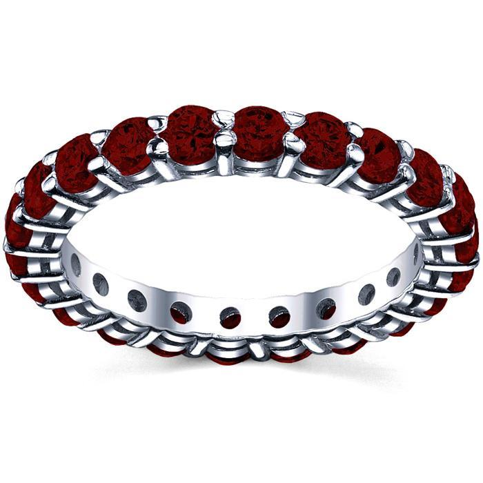 Garnet January Birth Stone Eternity Ring Gemstone Eternity Rings deBebians