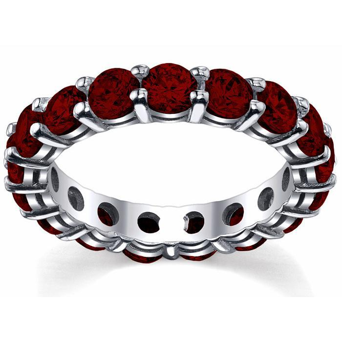 Garnet Wedding Eternity Ring Gemstone Eternity Rings deBebians