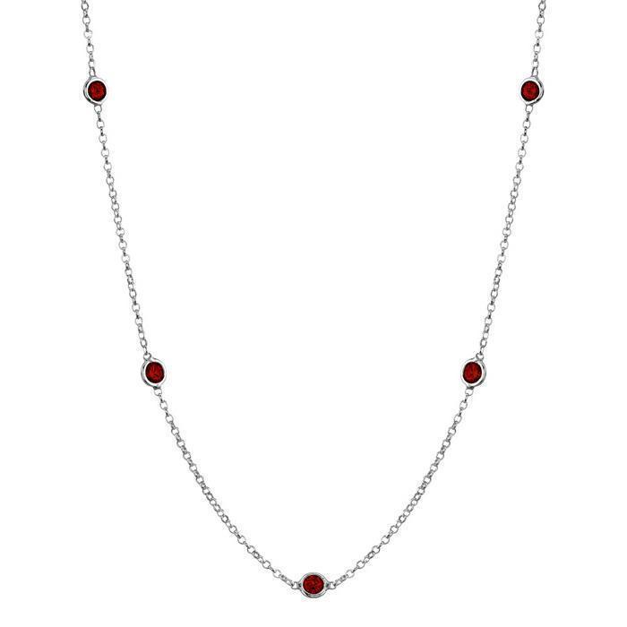 Garnet Station Necklace Necklaces deBebians