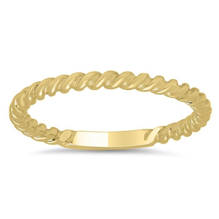 Gold Rope Wedding Band Plain Wedding Rings deBebians