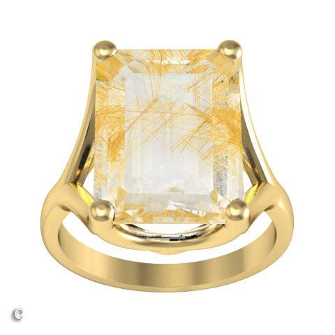 Golden Rutilated Quartz Ring Gift Ideas Over $1500 deBebians