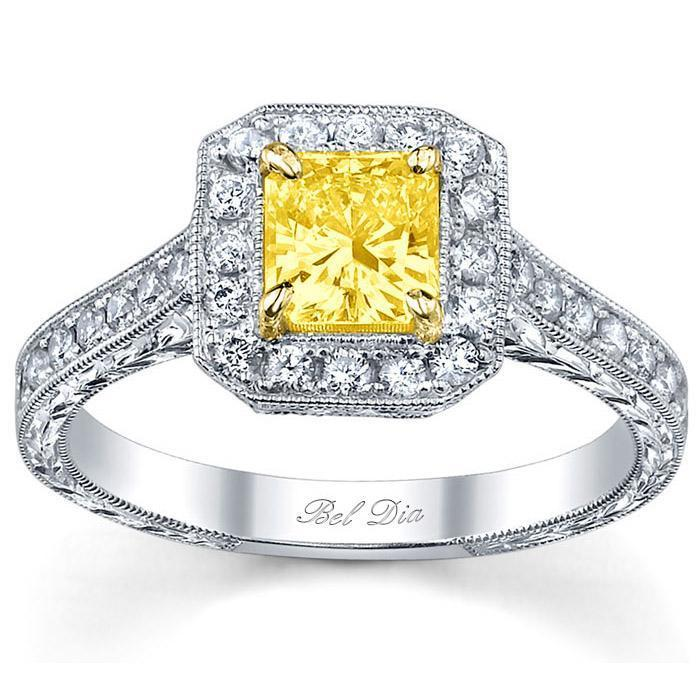 Fancy Yellow Diamond Engagement Ring Yellow Diamond Engagement Rings deBebians