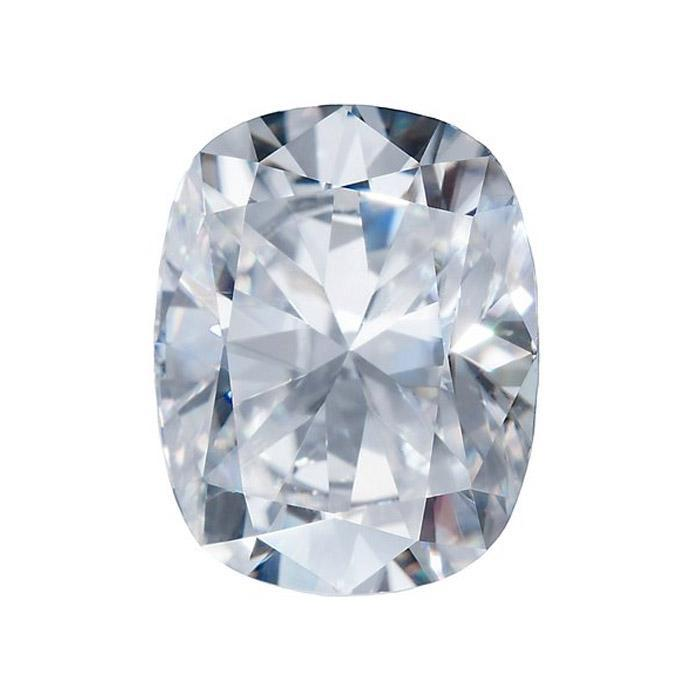Charles and Colvard Cushion Forever One Moissanite
