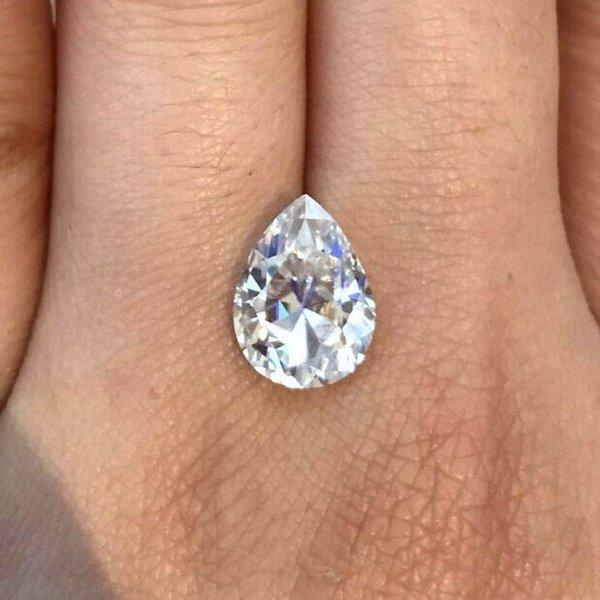 Harro Gem Antique Pear Moissanite Loose Moissanite Harro Gem