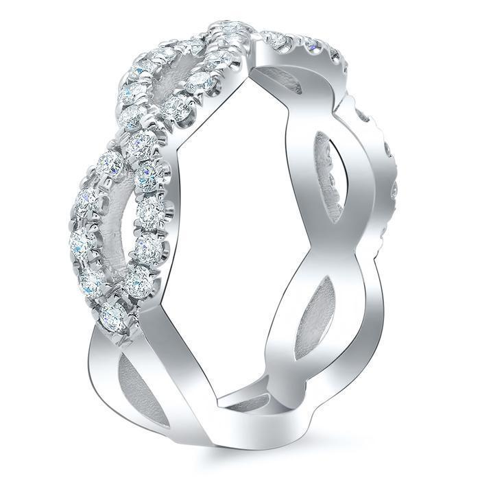 Infinity Twist Moissanite Wedding Ring Moissanite Wedding Rings deBebians