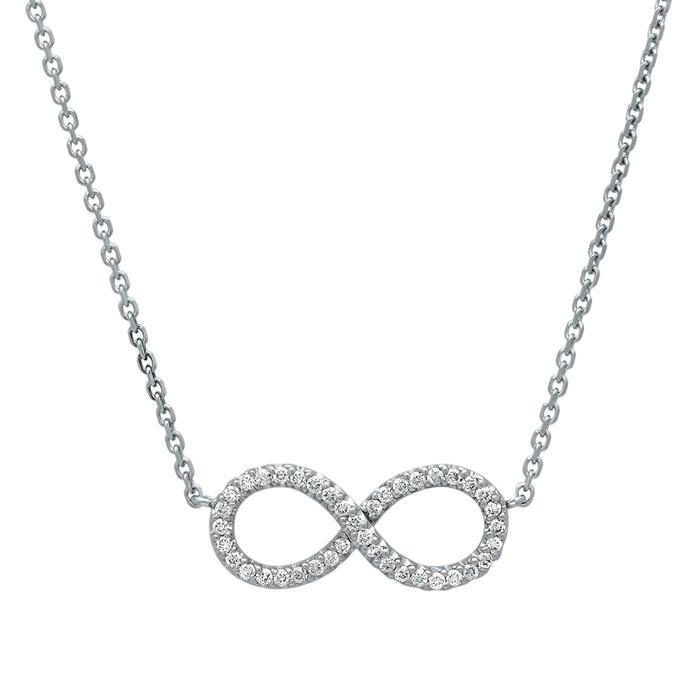 Infinity Pave Diamond Pendant Diamond Necklaces deBebians