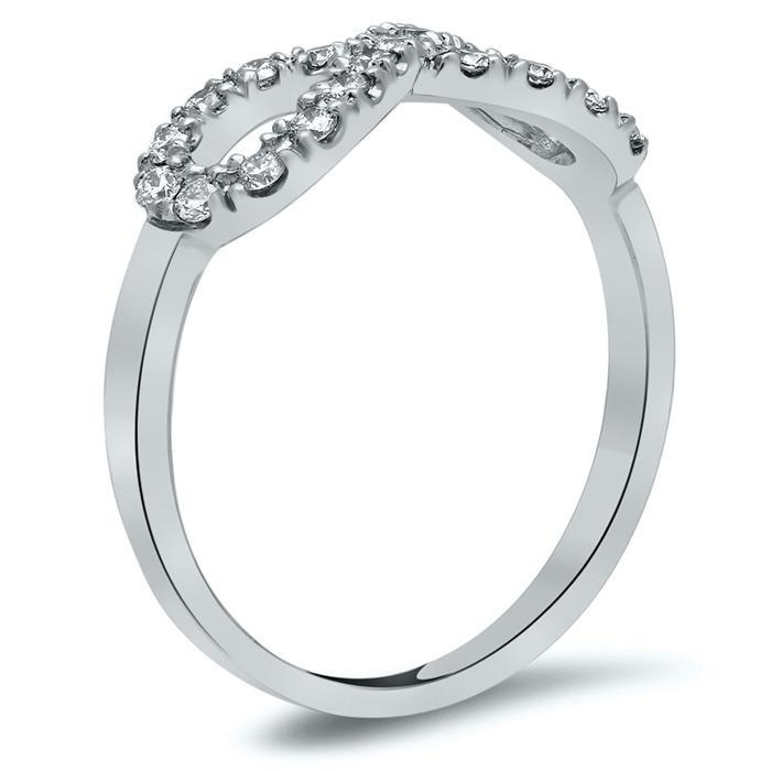 Infinity Pave Diamond Ring Diamond Wedding Rings deBebians
