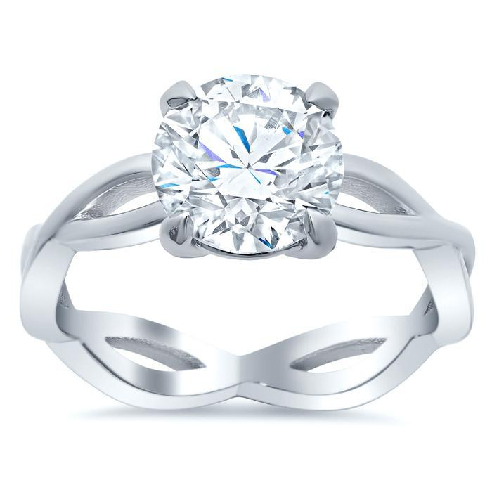Infinity Style Solitaire Engagement Ring Solitaire Engagement Rings deBebians
