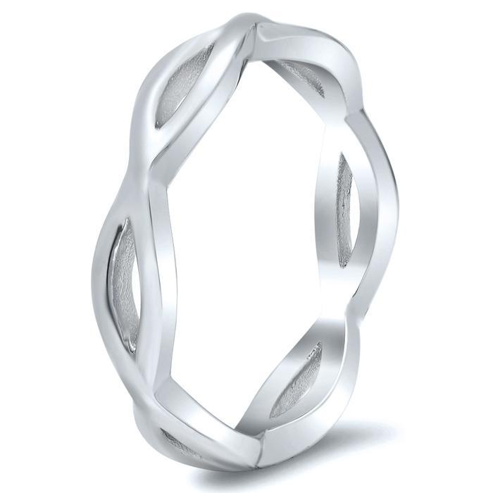 Infinity Twist Ring Plain Wedding Rings deBebians
