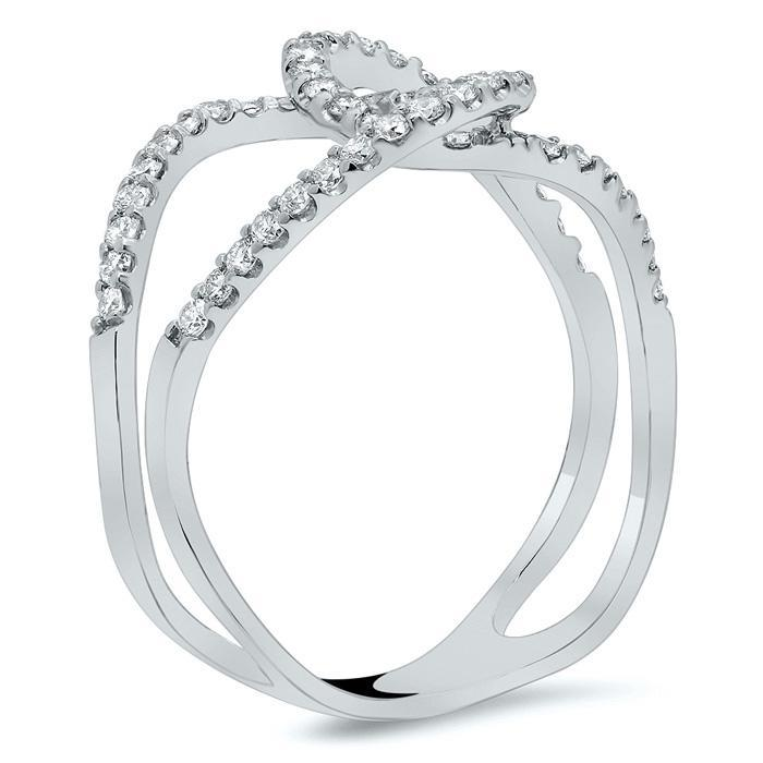 Interlocking Pave Diamond Loop Ring Diamond Wedding Rings deBebians