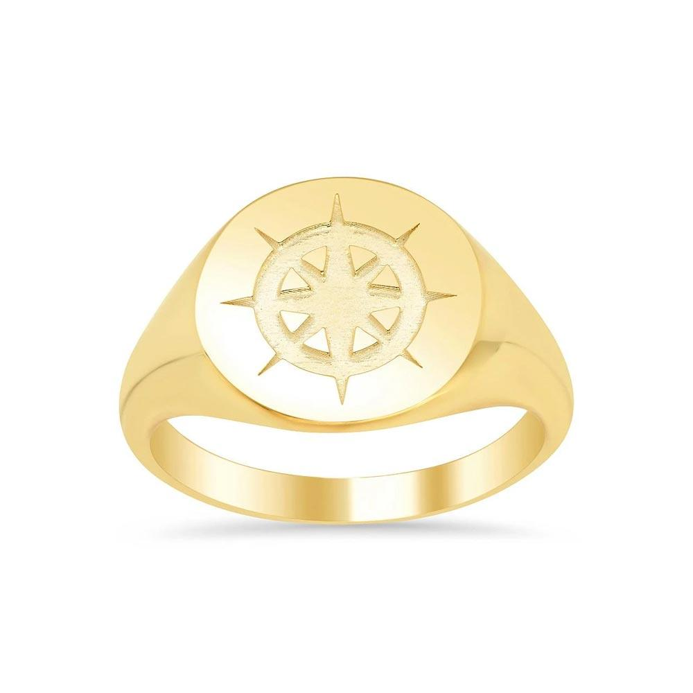 Compass Signet Ring for Ladies Signet Rings deBebians