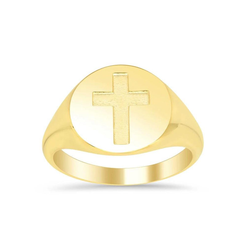Women's Round Signet Ring - Large