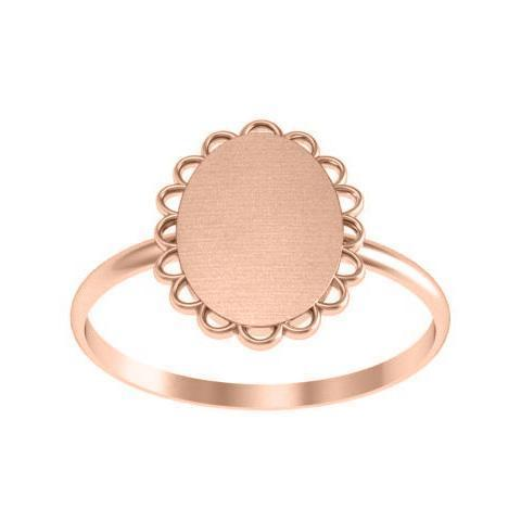 Signet Ring Gold With Scalloped Edge Signet Rings deBebians