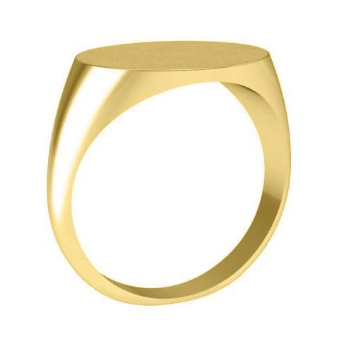 Oval Womens Signet Rings Yellow Gold Signet Rings deBebians