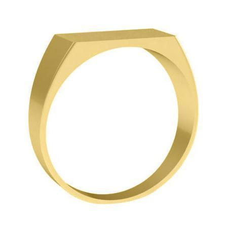 Simple 14k Gold Signet Rings for Ladies Signet Rings deBebians