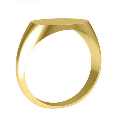 Yellow Gold Oval Gold Signet Ring Signet Rings deBebians