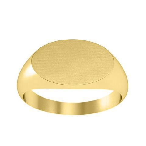 Medium Oval Center Ladies Signet Ring Signet Rings deBebians