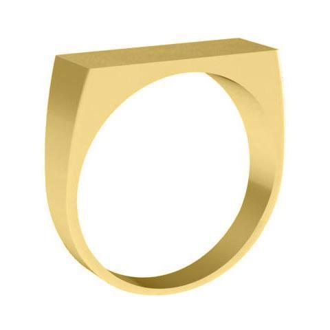 Trendy Flat Topped Signet Rings Gold Signet Rings deBebians
