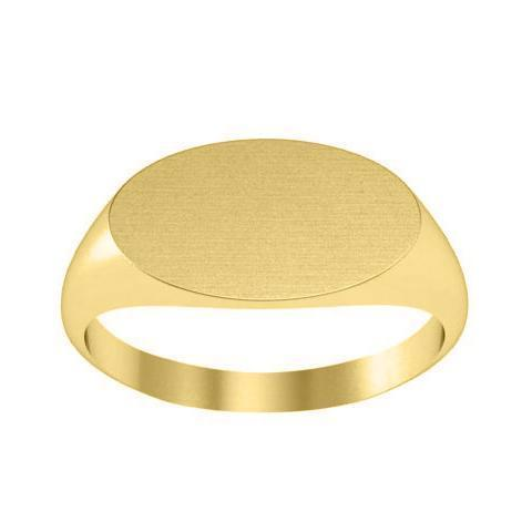 Simple Oval Cheap Signet Ring Gold Signet Rings deBebians