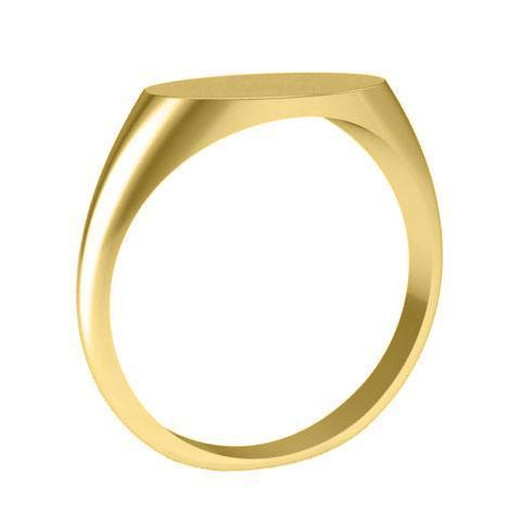 Solid Back Oval Signet Rings Gold Signet Rings deBebians