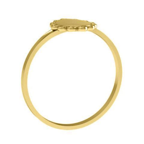 Scalloped Edge 14k Gold Signet Rings Signet Rings deBebians