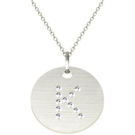 Diamond Initial Pendant Personalized Necklaces deBebians