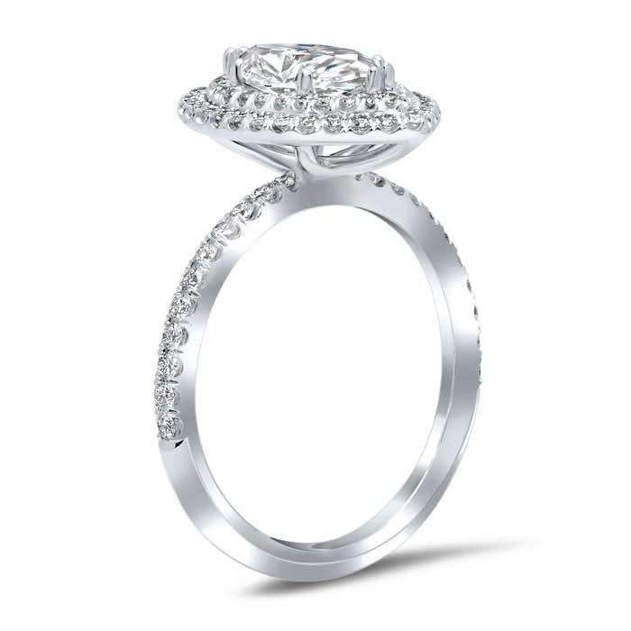 Marquise Double Halo Engagement Ring