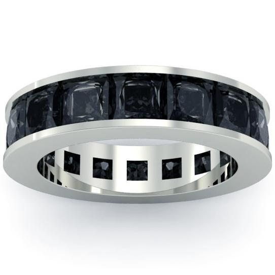 Men's Black Diamond Eternity Band Men's Diamond Wedding Rings deBebians