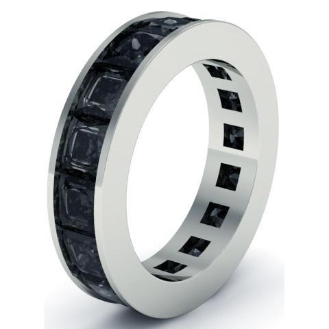 Men's Black Diamond Eternity Band , Rings, deBebians
