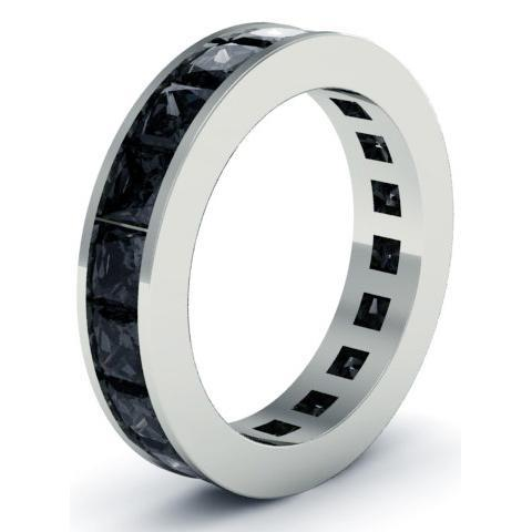 Men's Black Diamond Eternity Ring Men's Diamond Wedding Rings deBebians