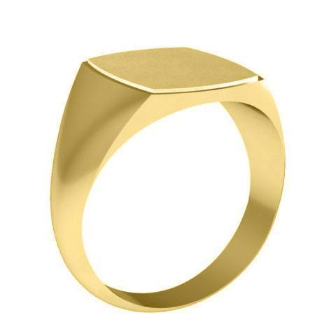 Mens Yellow Gold Signet Rings