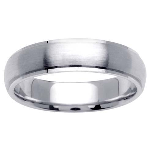 5.5mm Mens or Womens Brushed Wedding Ring Unique Wedding Rings deBebians