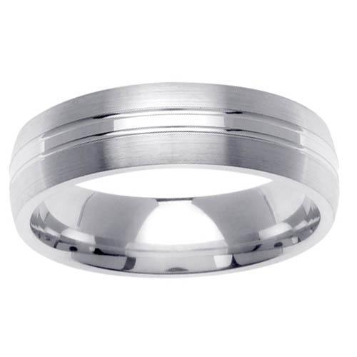 6mm Dual Finish Mens Wedding Ring Unique Wedding Rings deBebians