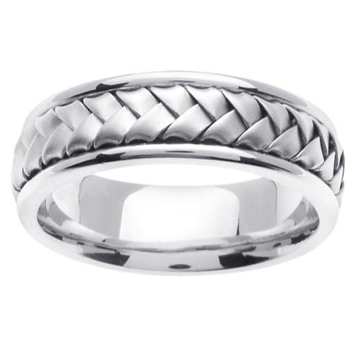 White Gold Handmade Ring Handmade Wedding Rings deBebians