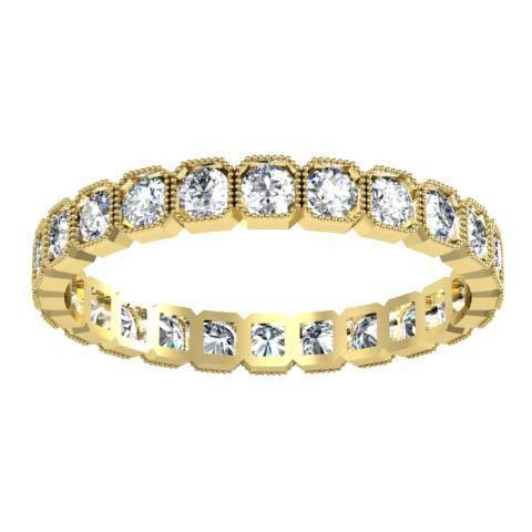 Round Brilliant Cut Bezel Set Diamond Eternity Band - 0.72 carat Diamond Eternity Rings deBebians