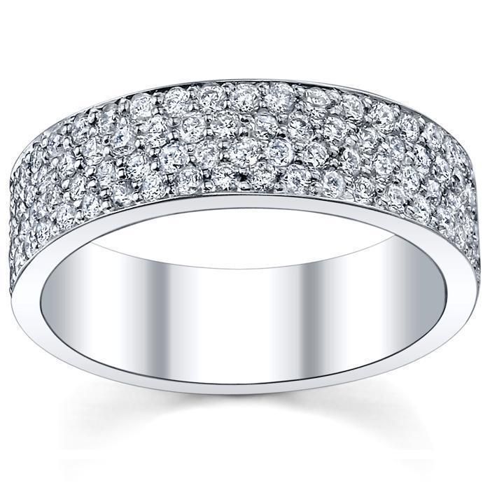 0.70 cttw Round Shared Prong Diamond Eternity Band