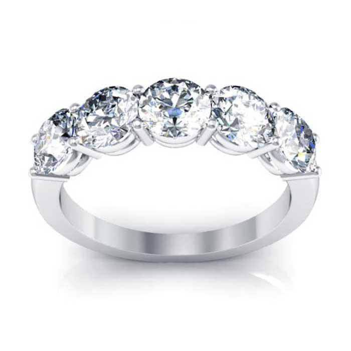 3.5mm Forever One Moissanite Round Eternity Ring