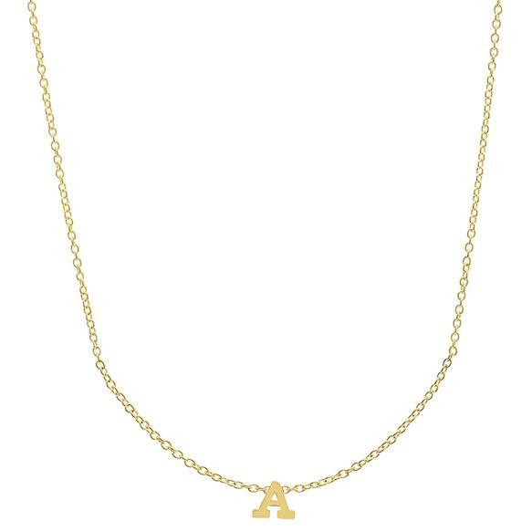 Monogram Letter Gold Pendant Personalized Necklaces deBebians