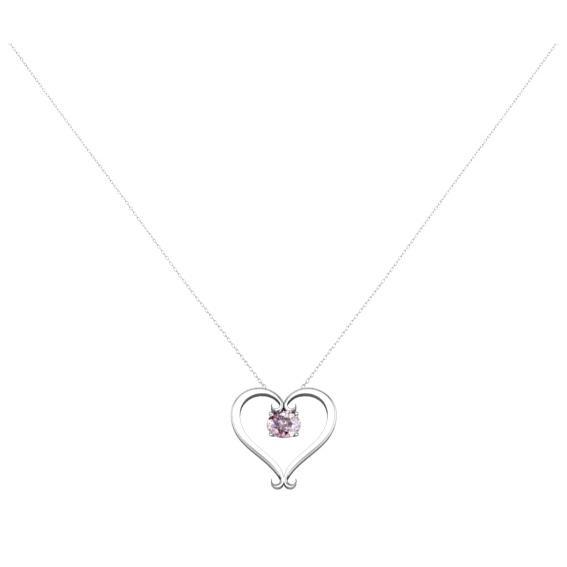 Morganite Heart Pendant Gift Ideas Under $1000 deBebians