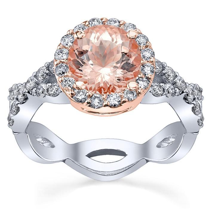 Morganite Infinity Engagement Ring in Rose Gold