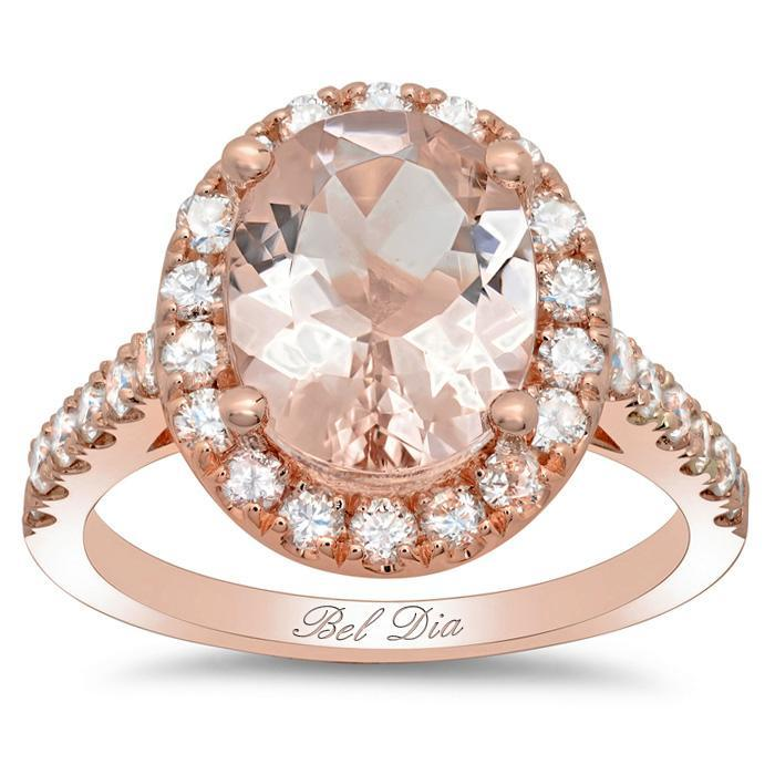 Morganite Rose Gold Art Deco Engagement Ring Rose Gold & Morganite Engagement Rings deBebians