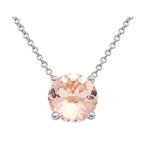 Morganite Solitaire Pendant Solitaire Necklaces deBebians