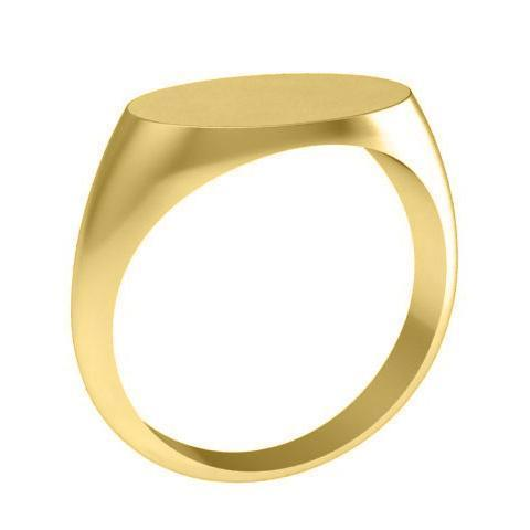 Oval Signet Ring in 14kt Gold