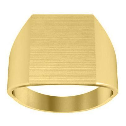 Square Signet Ring Mens Signet Rings deBebians