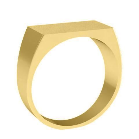 Rectangle Plain Signet Ring