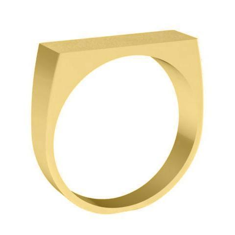 Wide and Narrow Signet Ring
