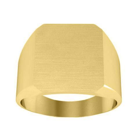 Large Mens Signet Ring in 14kt Gold