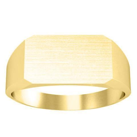 14k Signet Ring Band