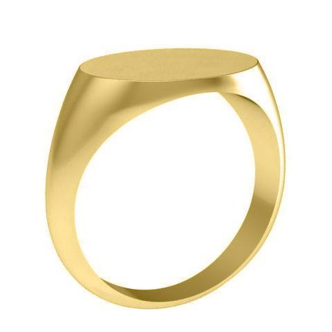 Mens Signet Ring in 14kt Gold